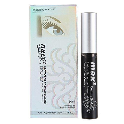 Beauty7Max2Beschichtung Versiegelungsmittel Lange Lebensdauer Wimpern Verlängerung schwarz...