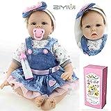 ZIYIUI 16 Pollici 40 Centimetri Reborn Baby Doll Bamboletta Neonato Realistico Morbido Silicone romanzo Indossando Una Bambola Gonna di Jeans