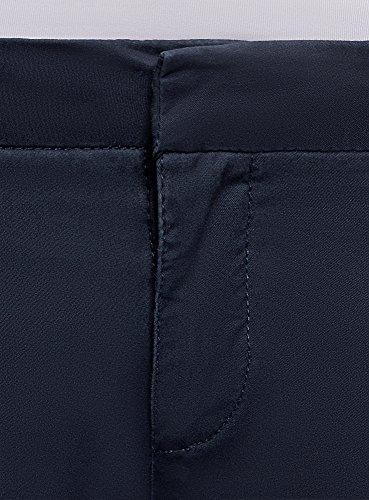 oodji Ultra Donna Pantaloni Chino in Cotone Blu (7900N)