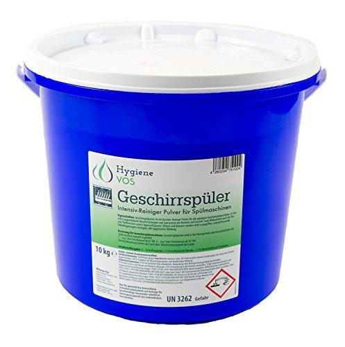 Hygiene Vos Geschirr-Reiniger-Pulver 10 kg. Intensiv Pulverreiniger für alle Spülmaschinen, löst selbst angetrocknete Verschmutzungen