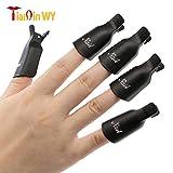 tqwy 100Kunststoff-Acryl Nail Art Soak off Clip Cap UV Gel Polish Remover Wrap leicht, um Nagel Werkzeug (schwarz)