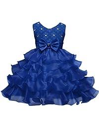 Happy Cherry - Vestido de Princesa Formal Traje de Fiesta Tutú con Encaje Lazo Elegante Dress