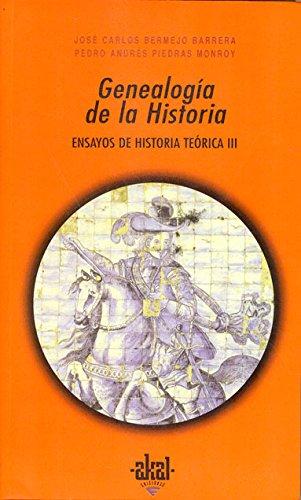 Descargar Libro Genealogía de la Historia (Universitaria) de José Carlos Bermejo Barrera