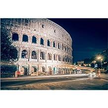 Cuadro sobre lienzo 60 x 40 cm: Rome - Colosseum at Night de Alexander Voss - cuadro terminado, cuadro sobre bastidor, lámina terminada sobre lienzo auténtico, impresión en lienzo