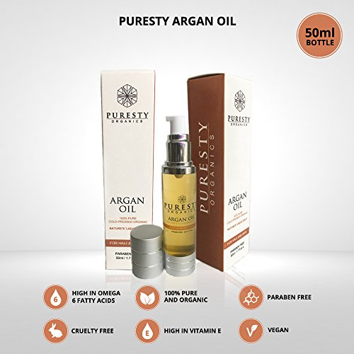 Puresty-Premium-Superior-Quality-Argan-Oil-100-Pure-Argan-Oil-100-Organic-Argan-Oil-Cold-Pressed-Argan-Oil-for-skin-hair-face-and-cuticles-50ml-Anti-Ageing-oil