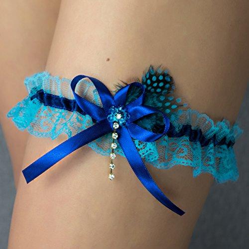 Strumpfband turkis blau Hochzeit Braut Brautkleid Unterwaesche