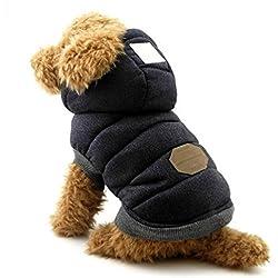 Selmai, vestitino elegante con cappuccio per cani di piccola taglia (l'abito veste piccolo, si prega di scegliere una taglia in più)