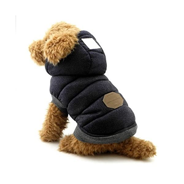 SELMAI Hooded Dog Coat Stylish Small Puppy Dog Clothes(This style run small,pls choose one size larger) 1