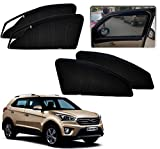 #6: Auto Pearl - Premium Quality Zipper Magnetic Sun Shades Car Curtain For - Hyundai Creta - Set of 4 Pcs