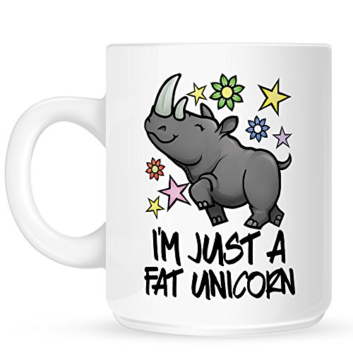 I'm Just A Fat Unicorn Funny Rhino Mug