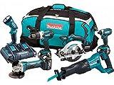 Makita DLX6072PT Combo Kit, 18 V, Multi-Coloured, 74 x 38 x 35