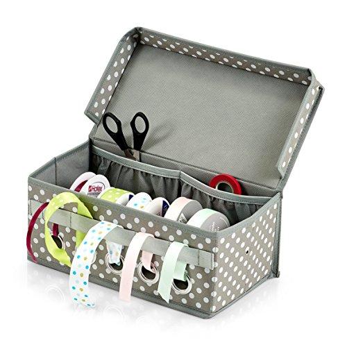 Zeller Geschenkband-Box, Grau, 29 x 15 x 12 cm