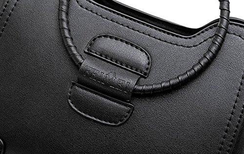 Borsa del cerchio, anello borsa di estate coreana, sacchetto obliquo selvaggio semplice di modo personalizzato ( Colore : Nero ) Rosso