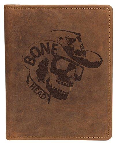 Greenburry-Schreibmappe-DINA5-mit-Totenkopf-Motiv-I-Vintage-Ledermappe-mit-Skull-Motiv-I-Geschenkidee-fr-Biker