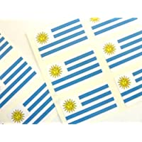Mini Pegatina Paquete, 33x20mm Rectángulo, autoadhesivo Uruguay Etiquetas, Uruguay Bandera Pegatinas