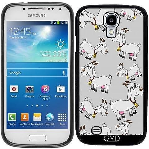 Funda de silicona para Samsung Galaxy S4 Mini (GT-I9195) - Una Cabra Lechera Con Una Campana by zorg