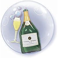 Qualatex 6881061cm Bubbly bottiglia di vino e vetro doppio Bubble balloon 01ct