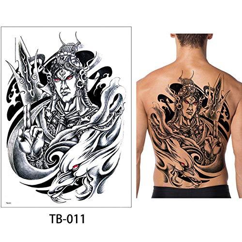 adgkitb 2pcs Tattoo Sticker Brust Classic Totem Tiger Cool Aufkleber TB-011 34x48cm (Kater Kalender)