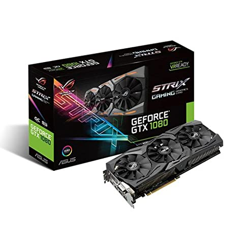 Asus ROG Strix GeForce GTX1080-O8G Gaming Grafikkarte (Nvidia, PCIe 3.0, 8GB GDDR5X Speicher, HDMI, DVI,