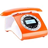 retro t l phone dect avec r pondeur sans fil num rique. Black Bedroom Furniture Sets. Home Design Ideas