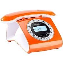 Téléphone sans fil DECT Rétro avec répondeur - orange