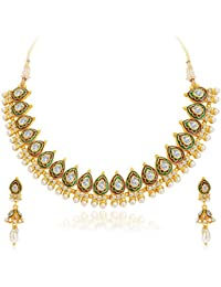 Sukkhi Splendid Gold Plated Kundan Necklace Set For Women