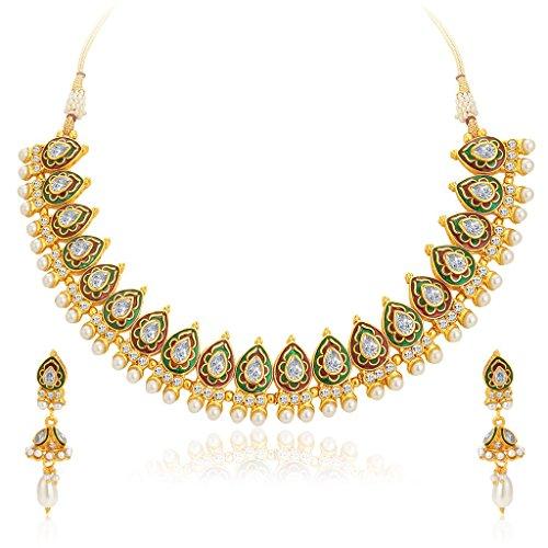 Sukkhi Splendid Gold Plated Kundan Necklace Set For Women