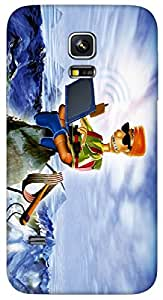 Timpax protective Armor Hard Bumper Back Case Cover. Multicolor printed on 3 Dimensional case with latest & finest graphic design art. Compatible with Samsung Galaxy S-5-Mini Design No : TDZ-26525