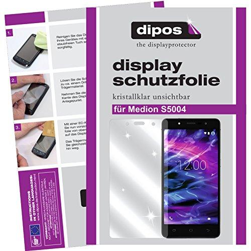 dipos I 2X Schutzfolie klar passend für Medion S5004 Folie Bildschirmschutzfolie