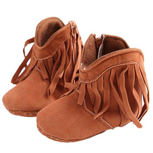 WAYLONGPLUS Baby-Kind-Mädchen Prewalker Baumwolle Anti-Rutsch Baby Stiefel Schuhe Grau