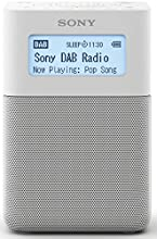 Sony XDR-V20D Radiosveglia Portatile con Speaker FM/DAB/DAB+, NFC, Bluetooth, Bianco