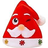 Miss Fortan Cappello di Natale Donna Uomo Bambino Inverno Babbo Peloso Cappello Caldo Cappellino Christmas Beanie Hat cap Fes
