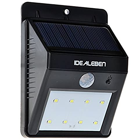 Idealeben Waterproof Bright 8 LED Wireless Solar Powered Motion Sensor Light  / Outdoor Security Lighting/Outdoor Solar Wall Lamp: Amazon.co.uk: Lighting