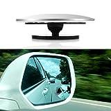 TiooDre Spiegel für Toten Winkel, Rahmenlos, HD-Glas, konvexer Weitwinkel, 360 Grad drehbar, verstellbar, zum Aufkleben
