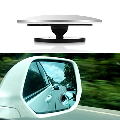 tioodre Blind Spot Espejos para coches, sin marco HD cristal convexa gran angular a 360â ° giratorio ajustable Stick-On coche espejo para se l 'coche SUV ejes Moto (tondeggiante)