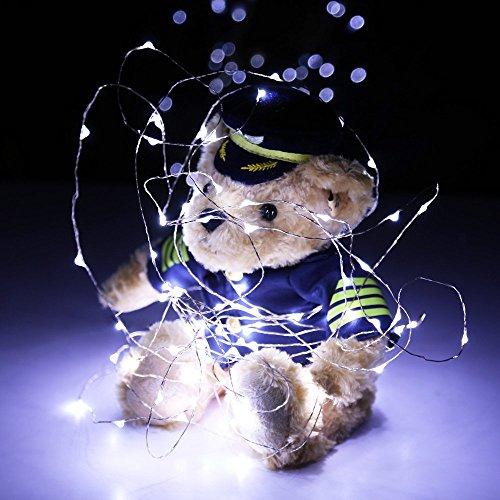 Weiße Landschaft Beleuchtung (XGUO 100 LED 10 Meter Lichterkette Wasserfest String USB Port 6V Beleuchtung Ambiente für Außen Landschaft, Terrasse, Garten, Schlafzimmer, Camping, Weihnachtsfest, Hochzeit--Weiß)