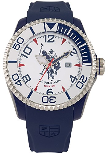 US Polo Association Reloj Analógico para Hombre de Cuarzo con Correa en Caucho USP4275SL