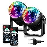 ACCEWIT MGY - 019 2PCS RGB LED Party Effect Iluminación de bola de discoteca Iluminación de escenario con control remoto