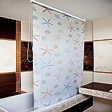 Ocean Bathroom Shower Curtain Roller Blind Extra Long, 4 Width Sizes, 120 x 240CM