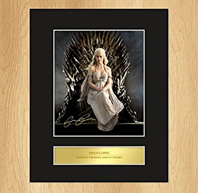 Emilia Clarke (Daenerys Targaryen) Game Of Thrones Signed Mounted Photo Display
