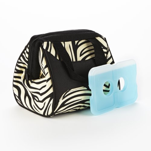 fit-fresh-ladies-downtown-insulated-lunch-bag-with-ice-pack-exterior-pocket-with-zipper-closure-zebr