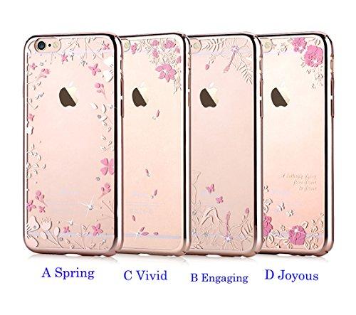 11f77e4d26f Devia BRA002383 Case Spring iPhone 6/6S Ausweistasche, Champagne Gold
