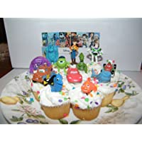 Disney Pixar Figure Cake Toppers / Cupcake Party Favor Decorations Set of 12 from Toy Story, Cars, Where