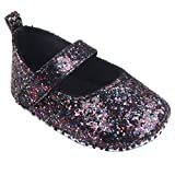 Tefamore Toddler Girl Soft Sole Crib Chaussures Sequins Sneaker (11/Age:0~6 Month, Noir)