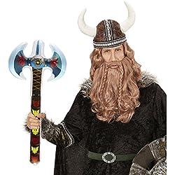 Machado Doble Acha Hinchable 70 cm Martillo Inflable Herramienta de Guerra Arma para inflar Hacha de Vikingo