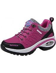 Soonee Mujer Rosa Botas de senderismo Correr en montaña Zapatillas de senderismo Mujer