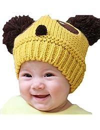 fablcrew bebé gorro cute Panda Forma de punto de lana ganchillo Beanie Hat Cap para niños niñas niños