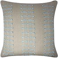 Zara - Funda bordada para cojines de lino confeccionado con un 100% de algodón,