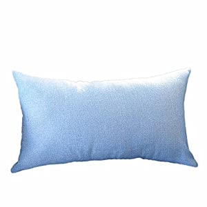 POPLY Cushion Covers Pillow Home Rectangle Cushion Cover Silk Throw Pillow Case Pillowcase,30cm*50cm,Series (Sky Blue)