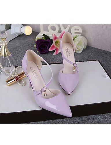 GS~LY Da donna-Tacchi-Casual-Tacchi-A stiletto-PU (Poliuretano)-Nero / Viola / Bianco purple-us6.5-7 / eu37 / uk4.5-5 / cn37